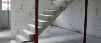 лестницы, мебель, интерьеры На бетонном каркасе
