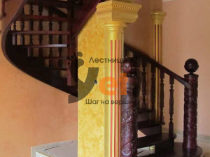 Фото лестница, сделанной по проекту Розмителево