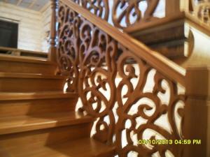 Проект резной лестницы с фотографиями