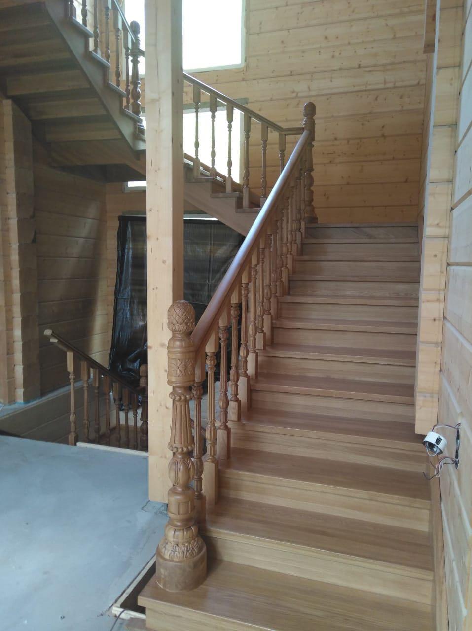 Деревянная лестница из дуба лестницы, мебель, интерьеры