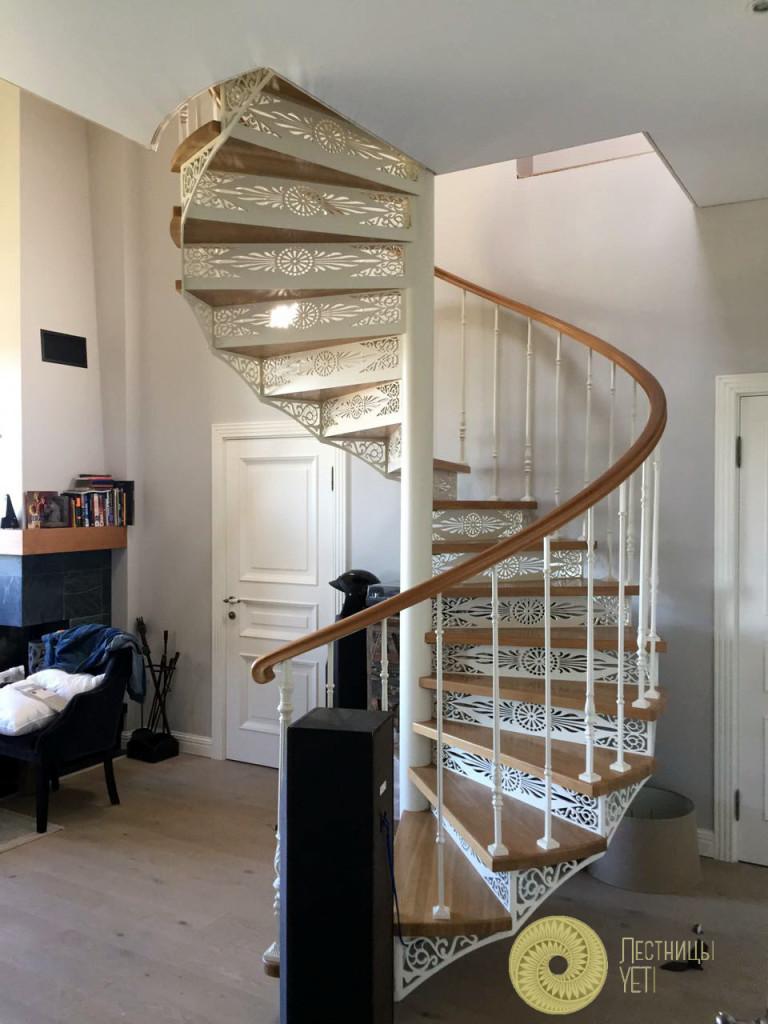 винтовая лестница с ограждением grande forge