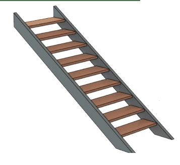 калькулятор лестницы Тетива
