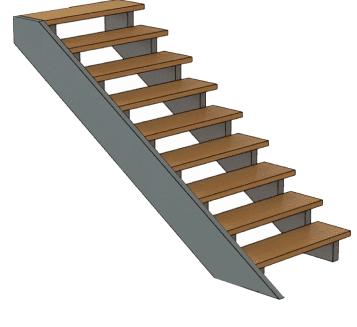 калькулятор лестницы Тетива и косоур