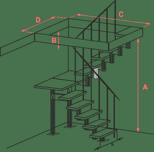 калькулятор лестницы габариты