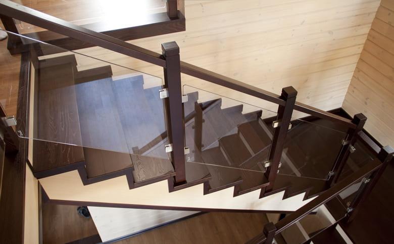 калькулятор лестницы Ограждение стекло 1