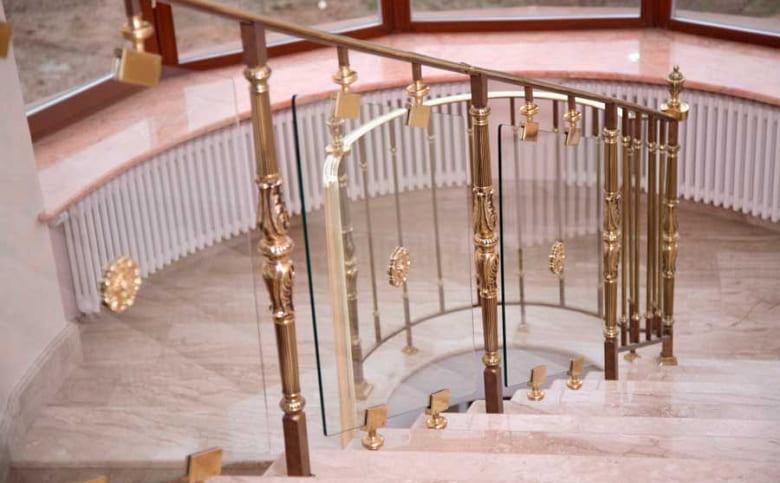 калькулятор лестницы Ограждение стекло 6