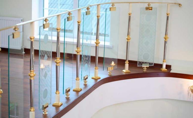 калькулятор лестницы Ограждение стекло 7