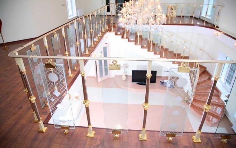 калькулятор лестницы Ограждение стекло 8