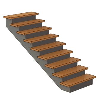 калькулятор лестницы Лестница с подступенками