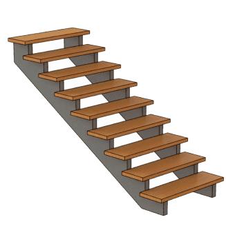 калькулятор лестницы Лестница без подступенок